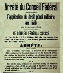 arrêté fédéral du 11 novembre 1932