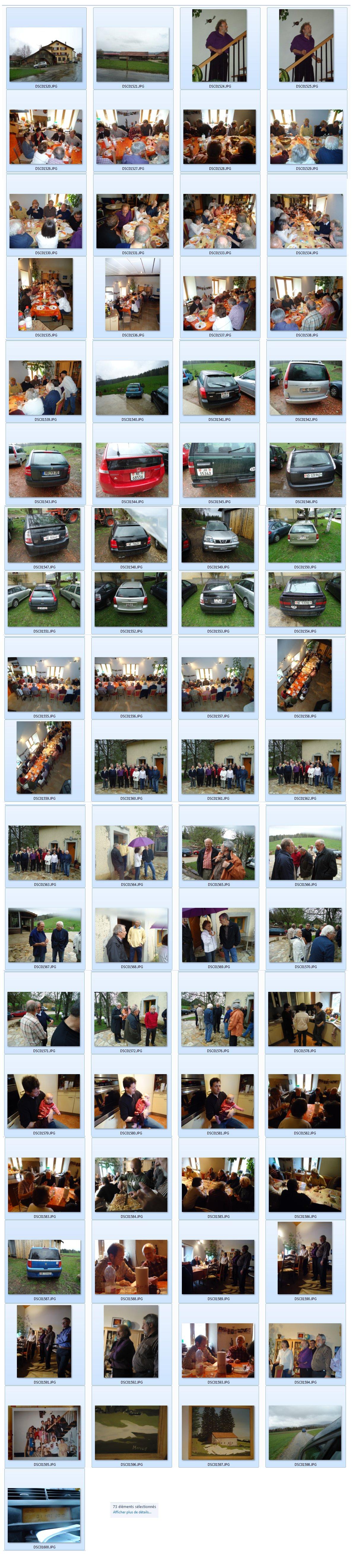 miniatures (pour faire votre choix) des photos prises à Martel Dernier samedi 1er mai 2010, entre midi et 18h45