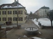 le Petit Collège, inauguré en 1848, réservé aux normaliens et situé quelques dizaines de mètres à l'ouest du grand; on voit que le terrain de basket est recouvert d'une bonne épaisseur de neige, réchauffement climatique oblige ! (photo prise le 27 février 2010, à 14h17)
