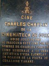Cine Charles Chaplin, calle 23 e/ 10 y 12, Vedado / Telefono 831 1101