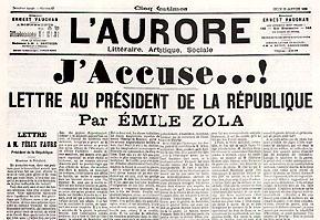 le célèbre article de zola du 13 janvier 1898