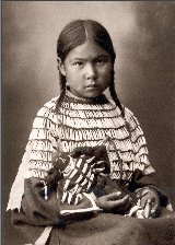 jeune fille Cheyenne (photo L. A. Huffman)