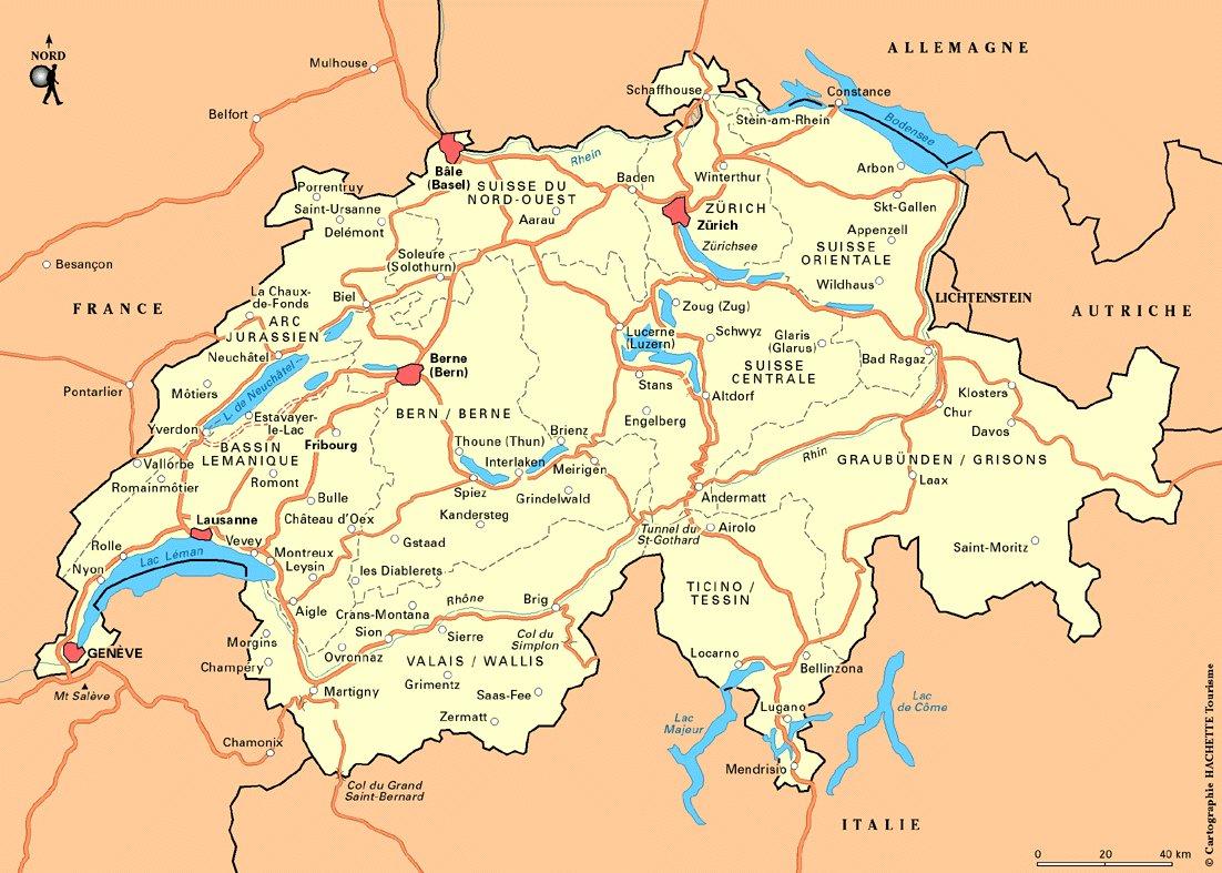 la Suisse</a> CARTE DE LA SUISSE