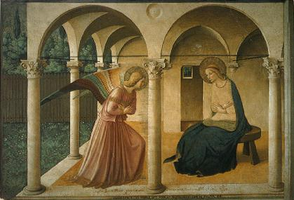 Fra Angelico : l'annonciation (Florence)