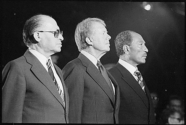 Begin, Carter et Sadate à Camp David en 1978