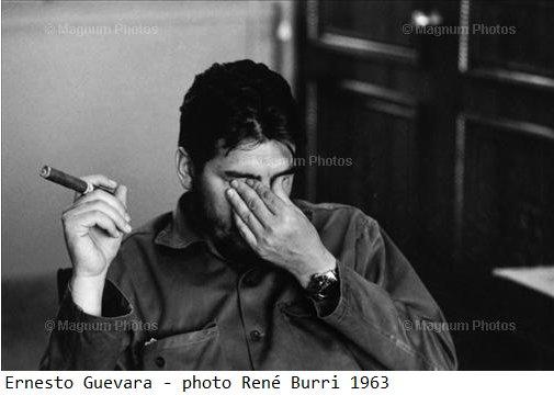 Ernesto <Che> Guevara de la Serna (1928-1967)  photographié à la Havane en 1963 par René Burri (c) Magnum