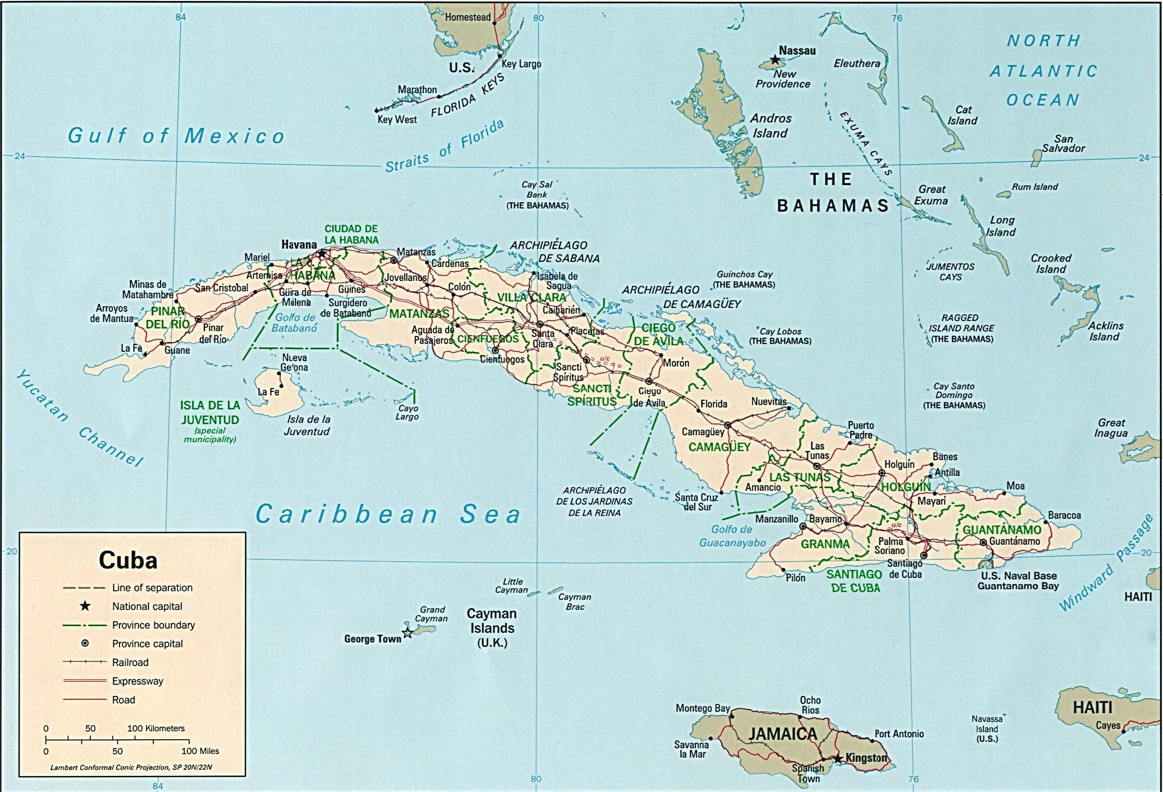 Carte Cuba Detaillee.Ordiecole Com Geographie De Cuba
