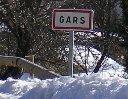 j'entre dans le village de Gars (Alpes Maritimes) en provenance de Castellane (Hautes Alpes) le 12 février 2009 vers midi - cliquer pour agrandir l'image !