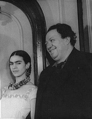 Frida Kahlo (1907-1954) et Diego Rivera (1886-1957) en 1932, trois ans après leur mariage