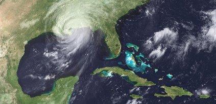 la tempête tropicale Katrina le 29 août 2005