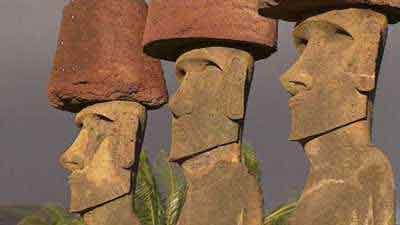 cliquer pour voir le moai Hoa Hakananai'a !