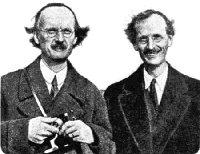 Auguste et Jean Piccard, nés tous deux le 28 janvier 1884 à Bâle (Suisse)
