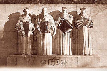 le mur des réformateurs - copyright http://www.plonkreplonk.ch [La Chaux-de-Fonds]