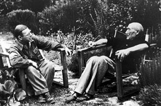 Sartre et Gide à Cabris en 1950 - cliquer pour voir Gide en 1893