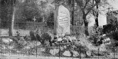 monument érigé à Champel en 1903
