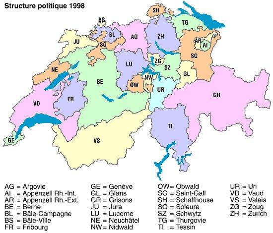 Petit récapitulatif sur la Suisse Suisse_cantons