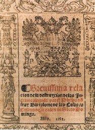 Brevíssima relacíon de la destruycíon de las Indias : colegída por el Obispo don fray Bartolome de las Casas o Casaus de la orden de Sancto Domingo. Año 1552 --- cliquer pour agrandir l'image