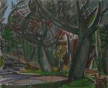 huile (1948) offerte à Marcel par le peintre chaux-de-fonnier Georges Froidevaux (1911-1968) en échange de soins médicaux