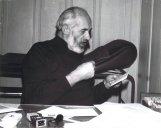 Marcel en 1977 dans son cabinet médical, rue de la Paix 11, au 3ème étage de la maison construite en 1893 pour Paul Ditisheim (1868–1945), chronométrier.
