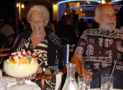 Margot et Marcel le 30 juillet 2001 à 14h30 - glacier du port - Porto Vecchio (Corse), quelques mois avant leur 60ème anniversaire de mariage