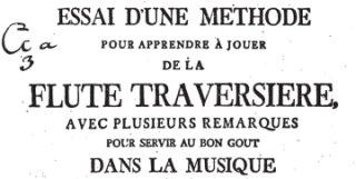 intéressant essai de Joachim Quantz, paru en 1752, disponible gratuitement sur internet, au format pdf, plus de 300 pages, 21 mégaoctets