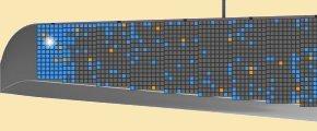 sur l'extrémité de l'aile gauche, on peut voir la position des cellules solaires - j'ai réservé la cellule numéro 1788
